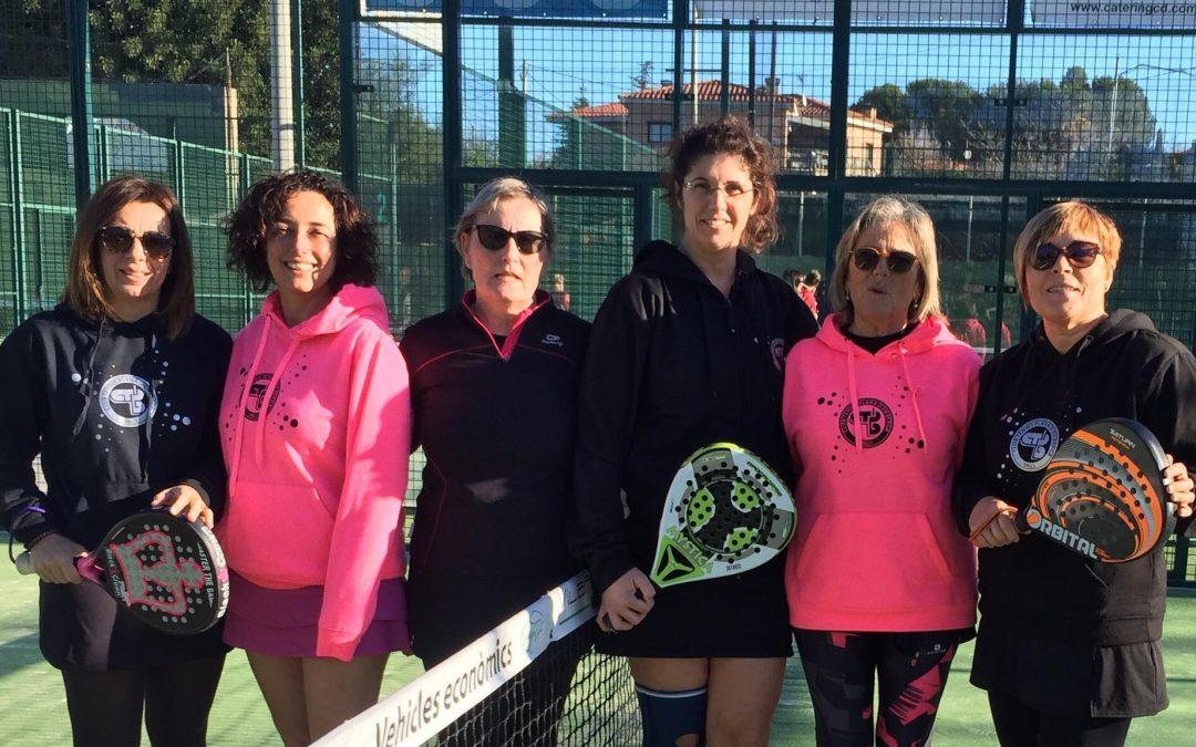 Els tres equips femenins de la Plana sumen en la Lliga Catalana de Pàdel
