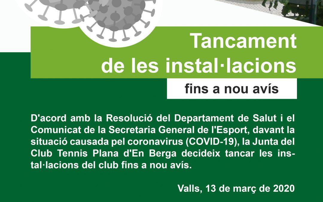TANCAMENT INSTAL·LACIONS CT PLANA D'EN BERGA