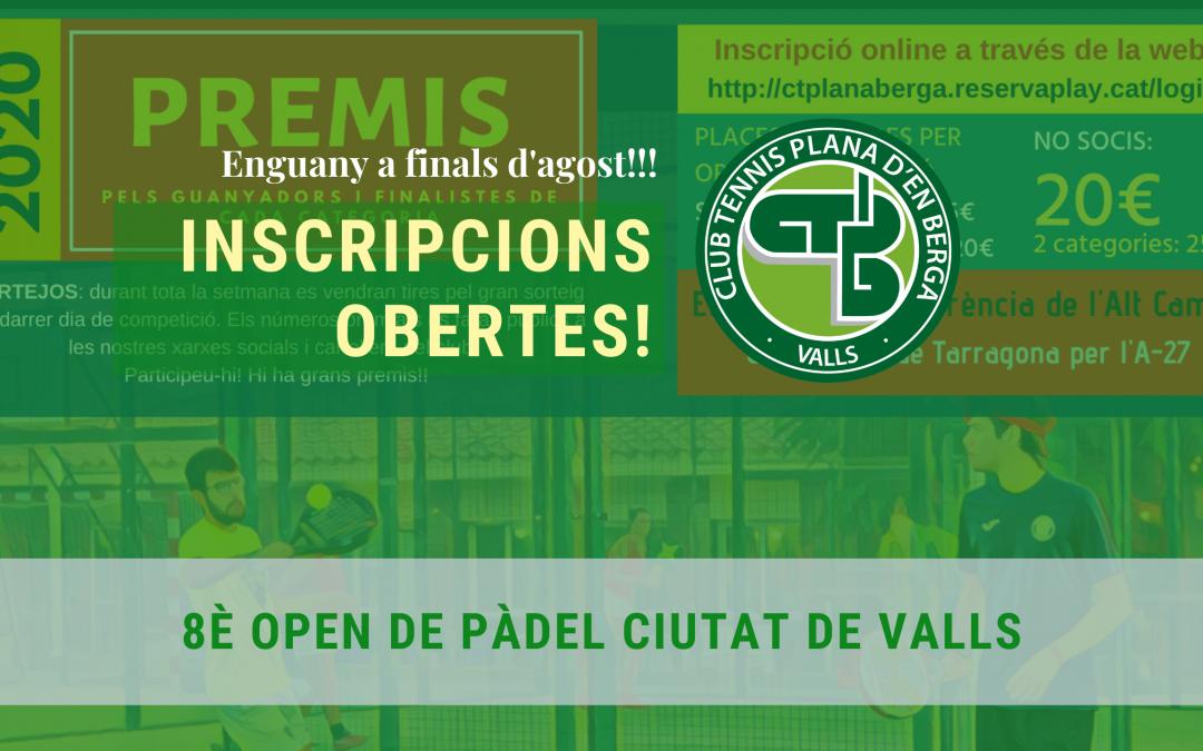 8è Open de Pàdel Ciutat de Valls