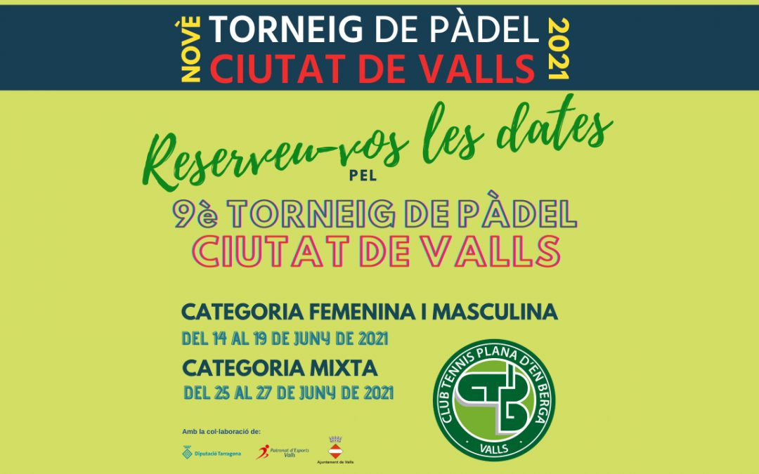 9è Torneig de Pàdel Ciutat de Valls